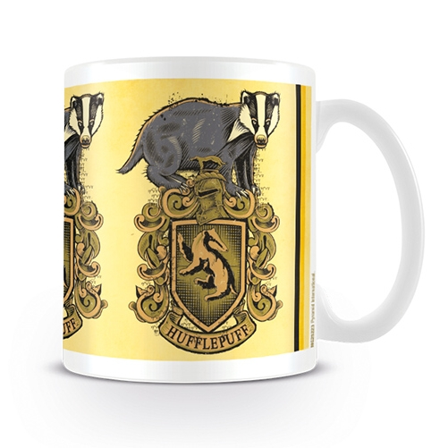 Harry Potter Boxed Mug Hufflepuff Badger Crest Sparkle Gift
