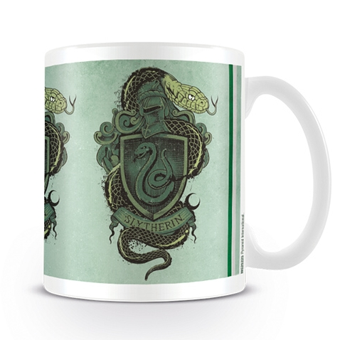 Harry Potter Boxed Mug Slytherin Snake Crest Sparkle Gift