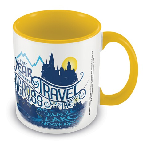 Harry Potter Boxed Mug Coloured Inner Black Lake Sparkle Gift
