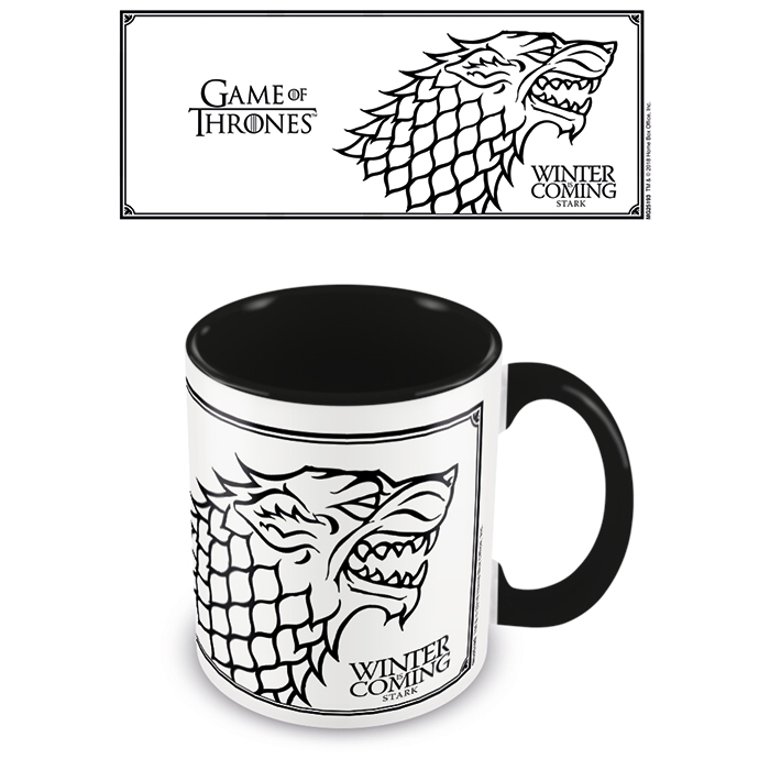 Game of Thrones Boxed Mug Coloured Inner Stark Sparkle Gift
