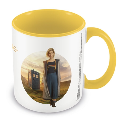 Doctor Who Boxed Mug Coloured Inner Yellow Sparkle Gift
