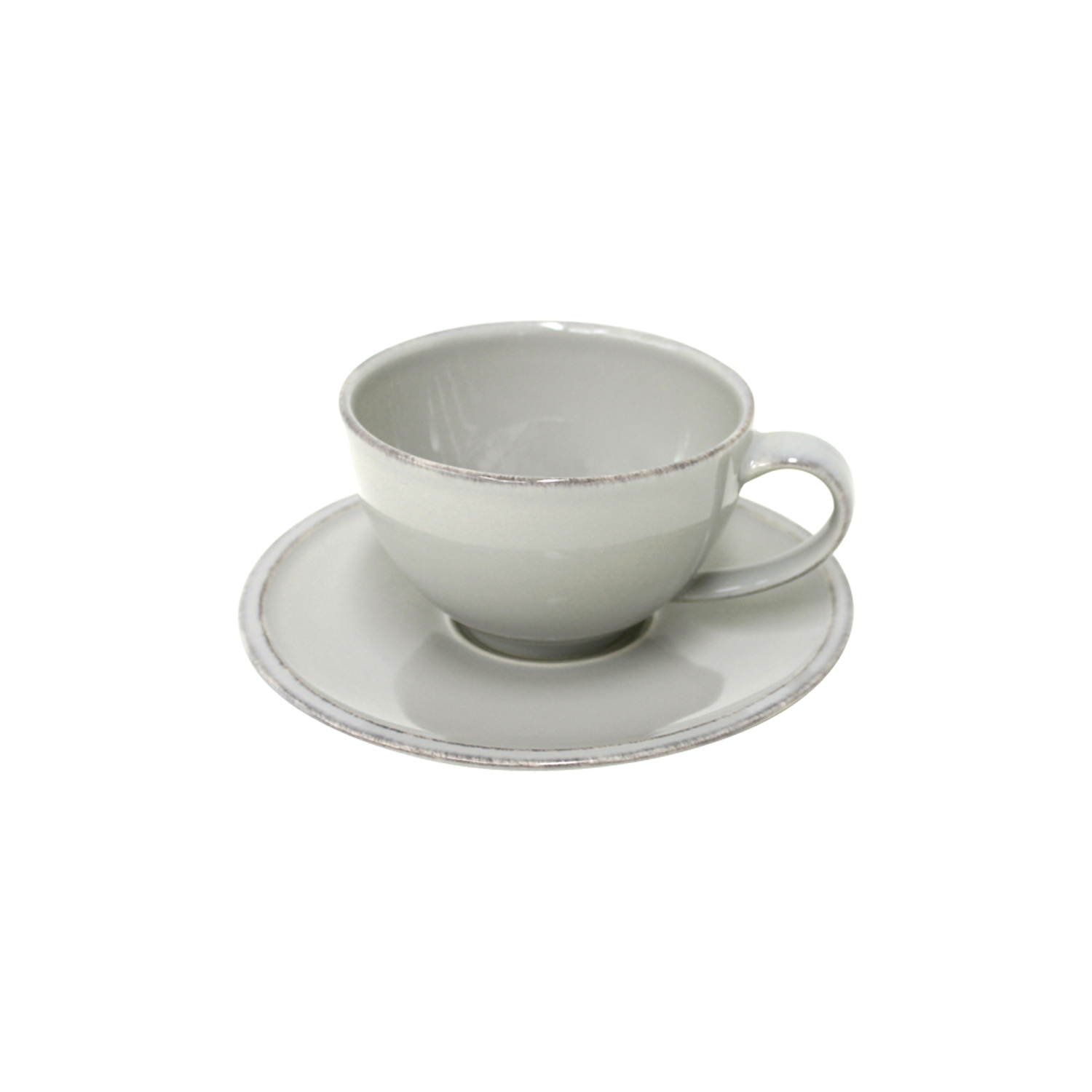 Friso Grey Tea Cup & Saucer 0.26l X6 Sparkle Gift