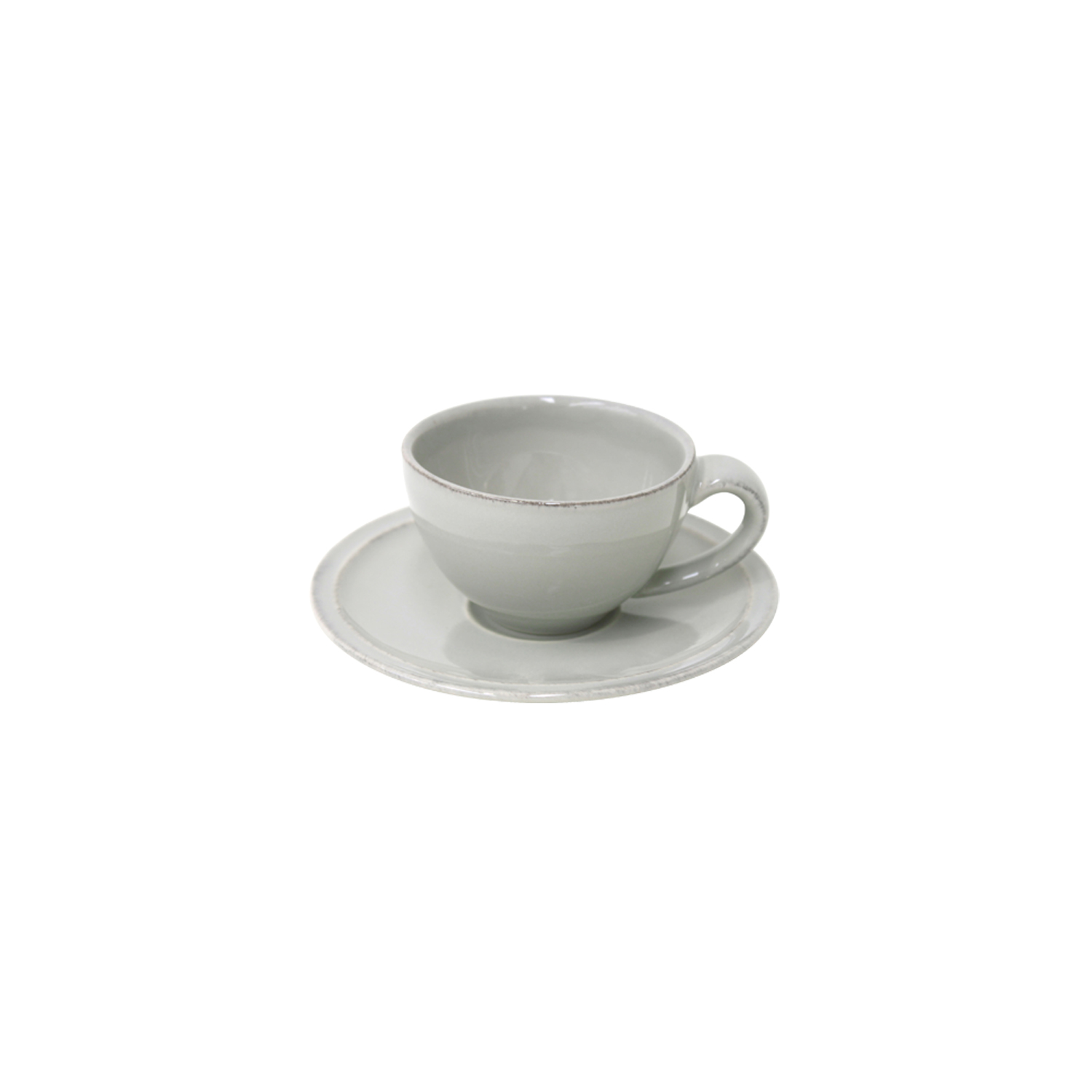 Friso Grey Coffee Cup & Saucer 0.09l X6 Sparkle Gift
