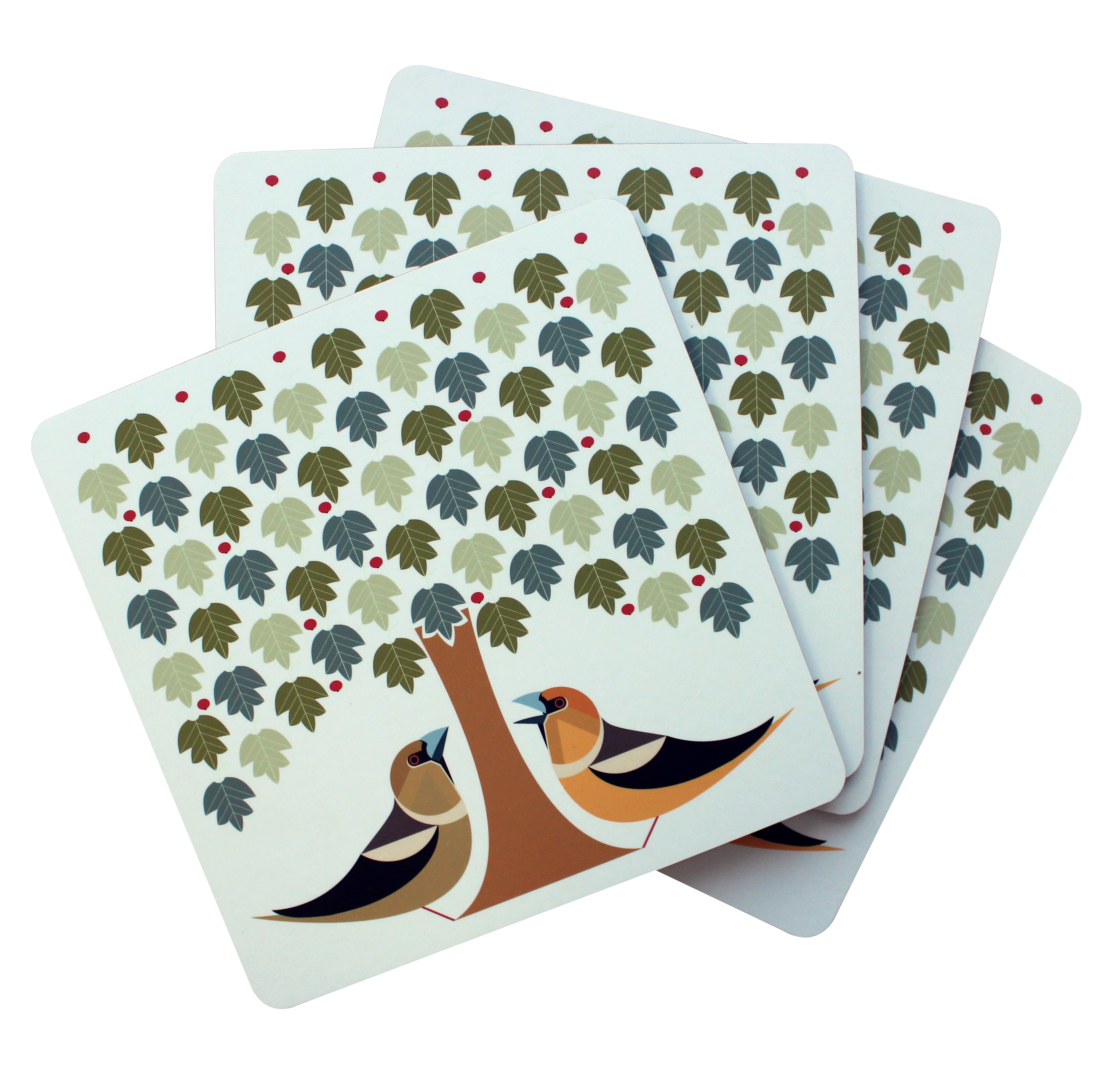 I Like Birds Placemats 4 Pack Hawfinch Sparkle Gift