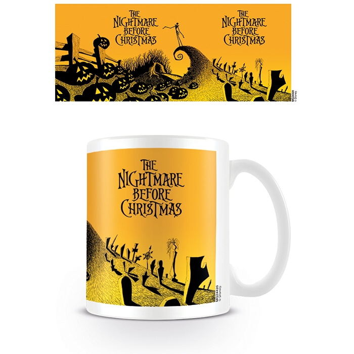 Nightmare Before Christmas Boxed Mug Graveyard Sparkle Gift