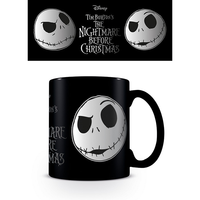 Nightmare Before Christmas Foil Mug Jack Face Sparkle Gift