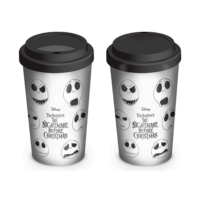 Nightmare Before Christmas Travel Mug Faces Sparkle Gift
