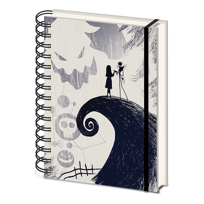 Nightmare Before Christmas A5 Notebook Spiral Hill Sparkle Gift