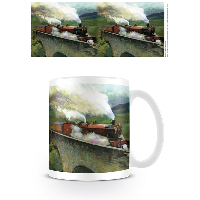 Harry Potter Boxed Mug Hogwarts Express Landscape Sparkle Gift