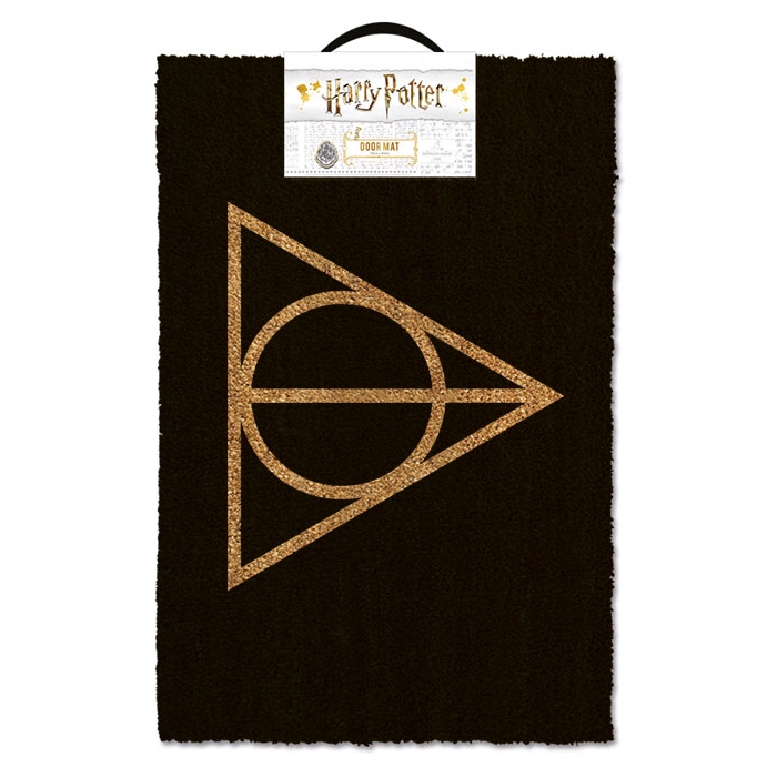 Harry Potter Doormat Deathly Hallows Sparkle Gift