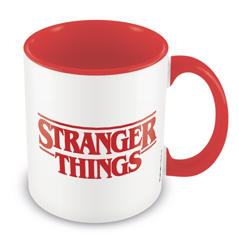 Stranger Things Boxed Mug Coloured Inner Logo Sparkle Gift