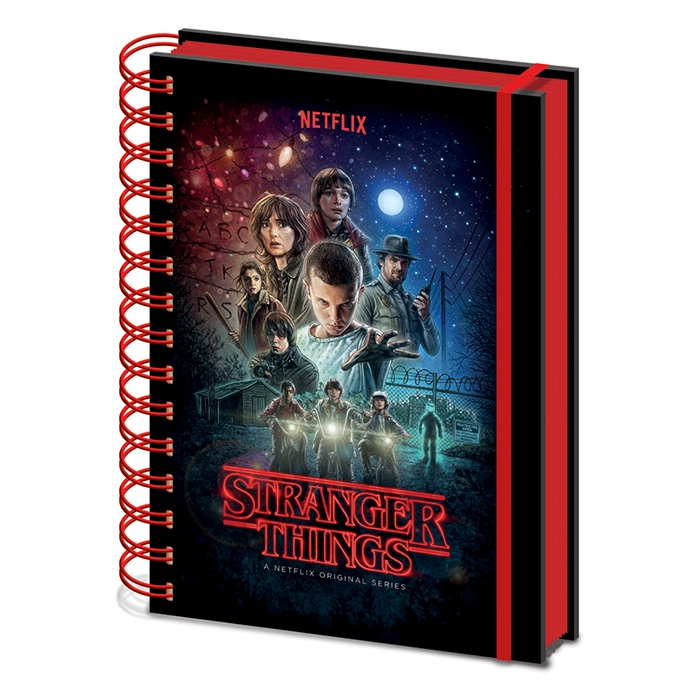 Stranger Things A5 Notebook One Sheet Sparkle Gift