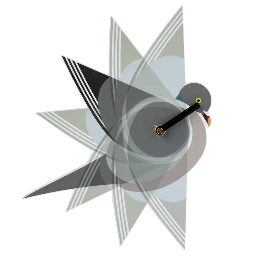I Like Birds Wall Clock Pigeon Sparkle Gift