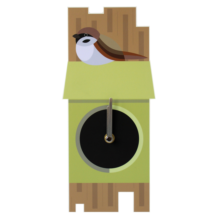 I Like Birds Wall Clock Sparrow Sparkle Gift