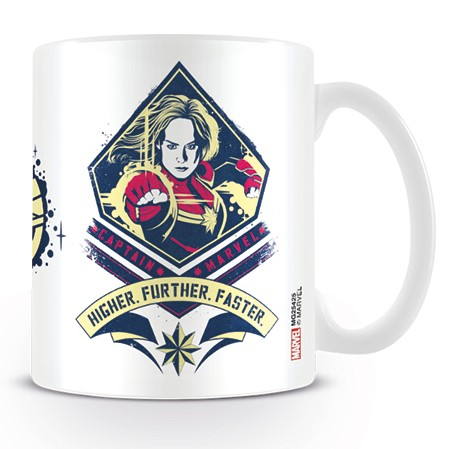 Marvel Boxed Mug Captain Marvel Higher Further Sparkle Gift