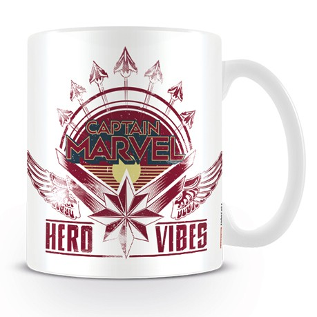 Marvel Boxed Mug Captain Marvel Hero Vibes Sparkle Gift