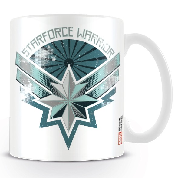 Marvel Boxed Mug Captain Marvel Starforce Warrior Sparkle Gift