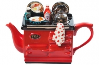 Teapot Aga English Breakfast Large Red Sparkle Gift