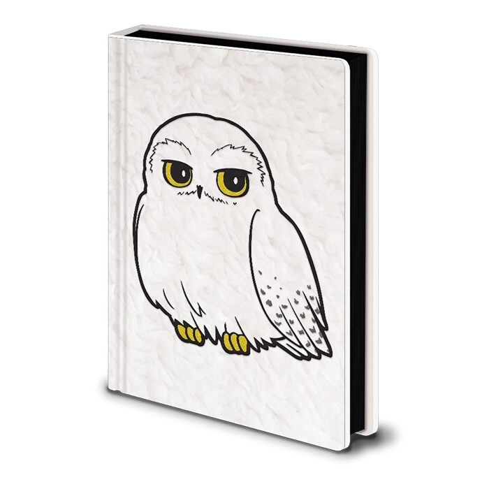 Harry Potter Premium A5 Notebook Fluffy Hedwig Sparkle Gift