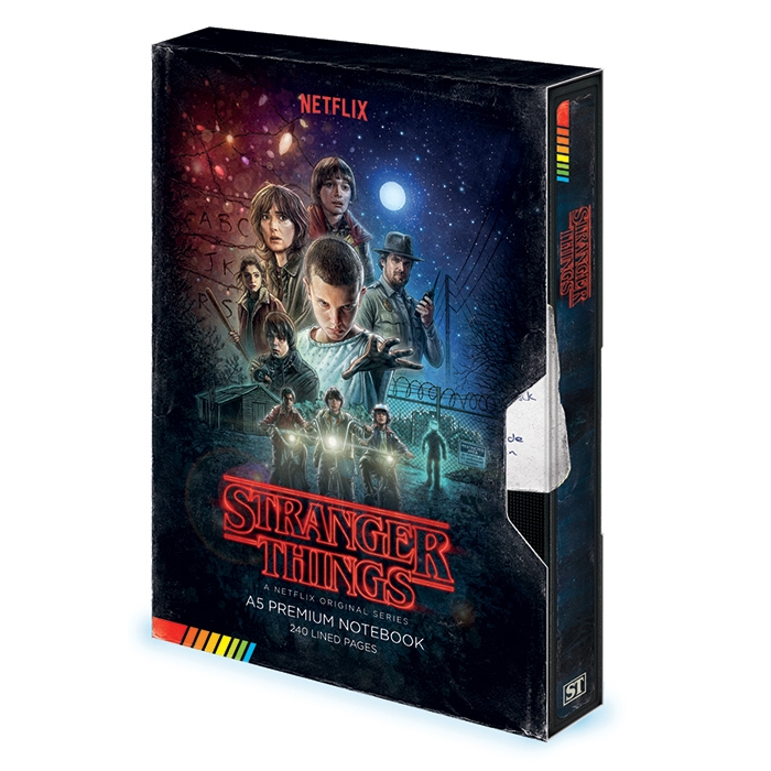 Stranger Things Premium A5 Notebook Vhs Sparkle Gift