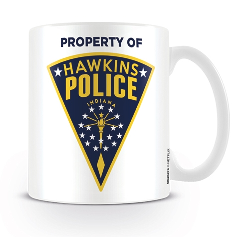Stranger Things Boxed Mug Hawkins Police Badge Sparkle Gift