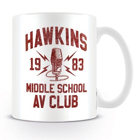 Stranger Things Boxed Mug Hawkins Av Club Sparkle Gift