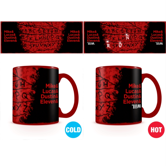 Stranger Things Heat Change Mug R, U, N Sparkle Gift