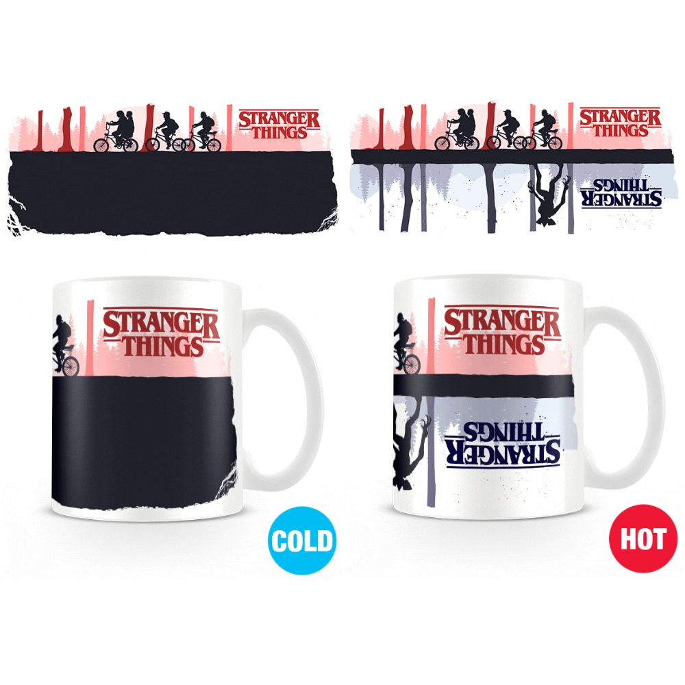 Stranger Things Heat Change Mug Upside Down Sparkle Gift
