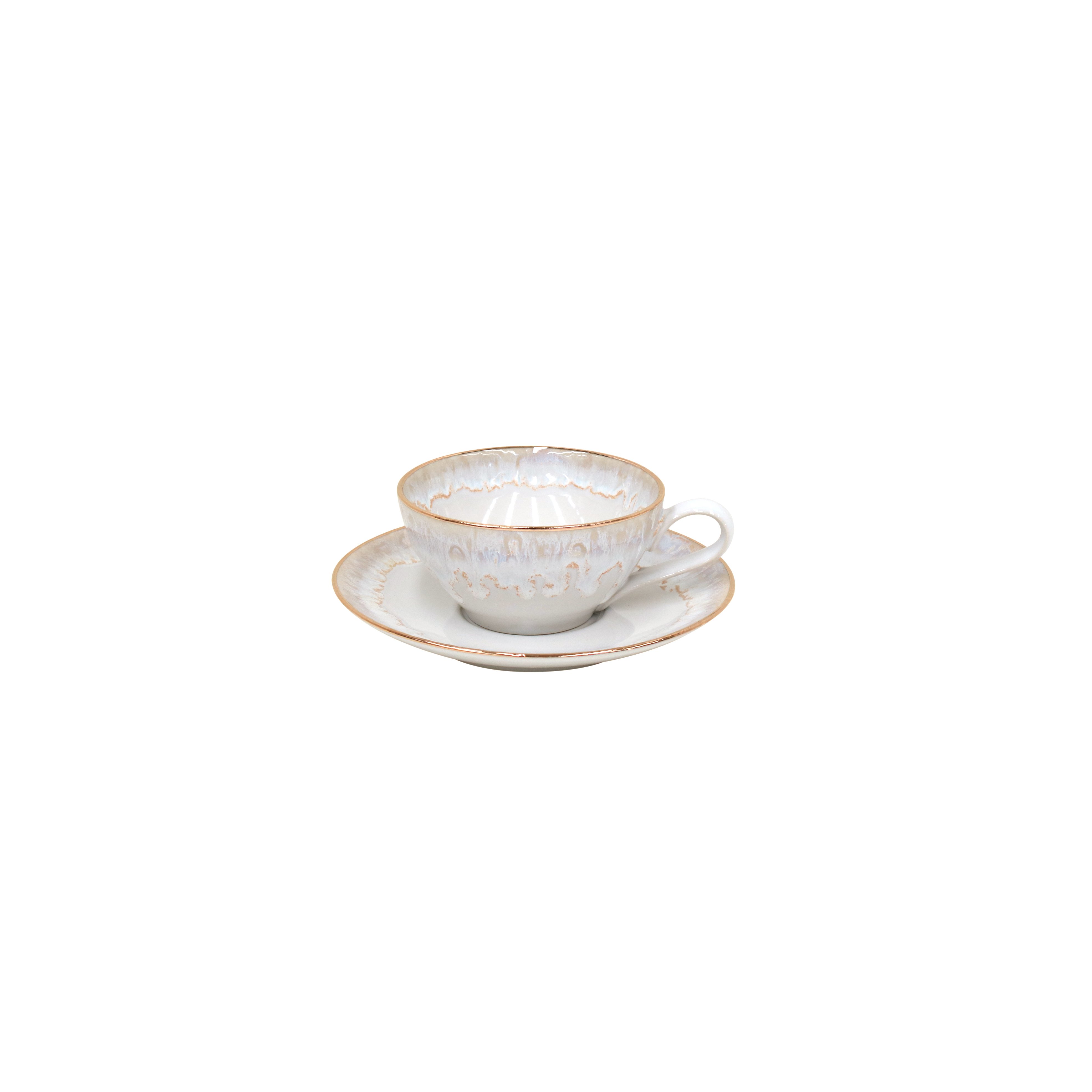 Taormina White Gold Teacup & Saucer 0.2l X6 Sparkle Gift