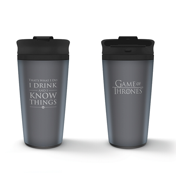 Game of Thrones Metal Travel Mug I Drink & I Know Sparkle Gift