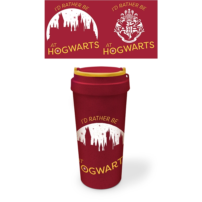 Harry Potter Eco Mug Id Rather Be At Hogwarts Sparkle Gift