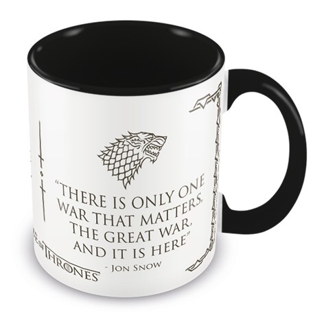 Game of Thrones Boxed Mug Coloured Inner War Sparkle Gift