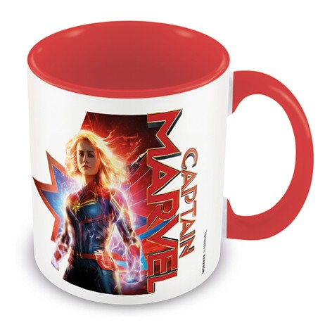 Marvel Boxed Mug Coloured Inner Captain Marvel Sparkle Gift