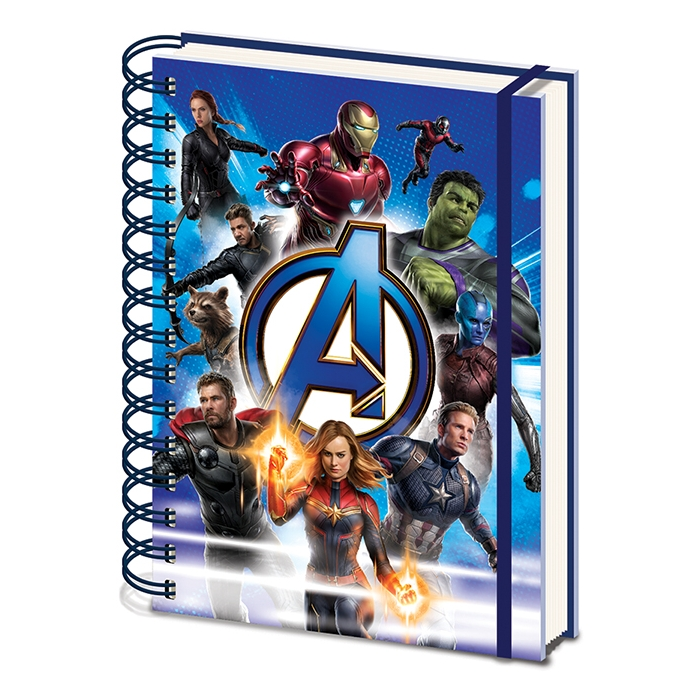 Marvel A5 Notebook Avengers Endgame To Action Sparkle Gift