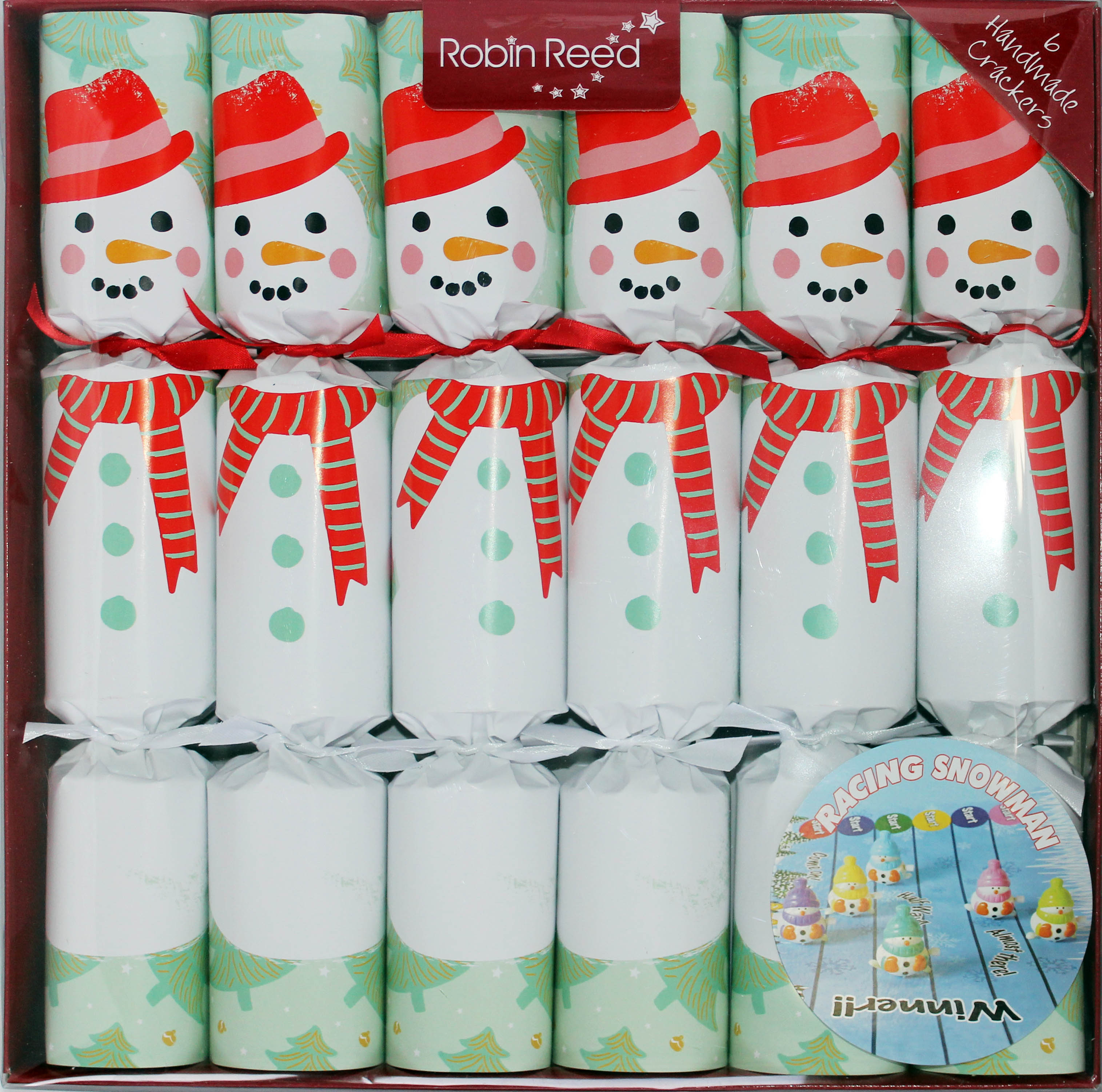 Christmas Crackers Racing Snowman (6) 2019 Sparkle Gift
