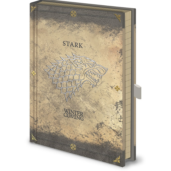 Game of Thrones Premium A5 Notebook Stark Worn Sparkle Gift