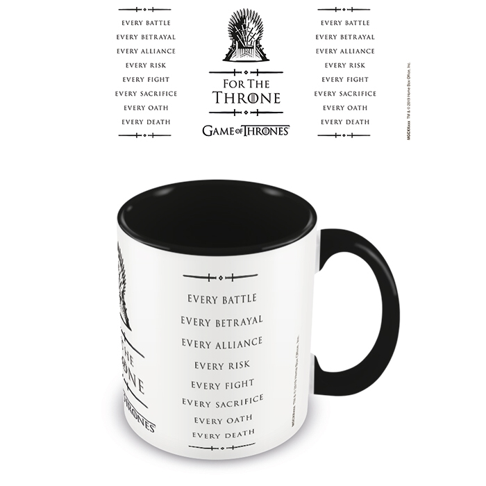 Game of Thrones Boxed Mug Coloured Inner Throne Sparkle Gift