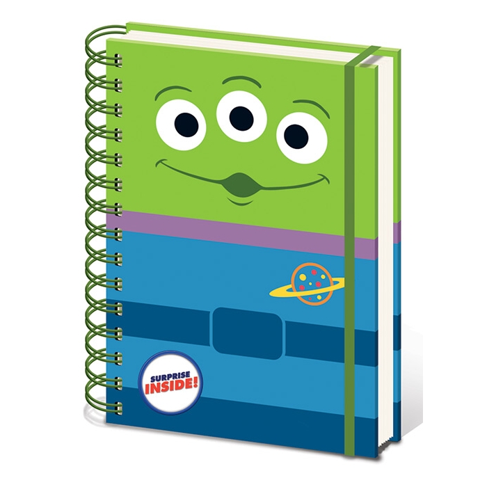 Toy Story A5 Notebook Alien Sparkle Gift