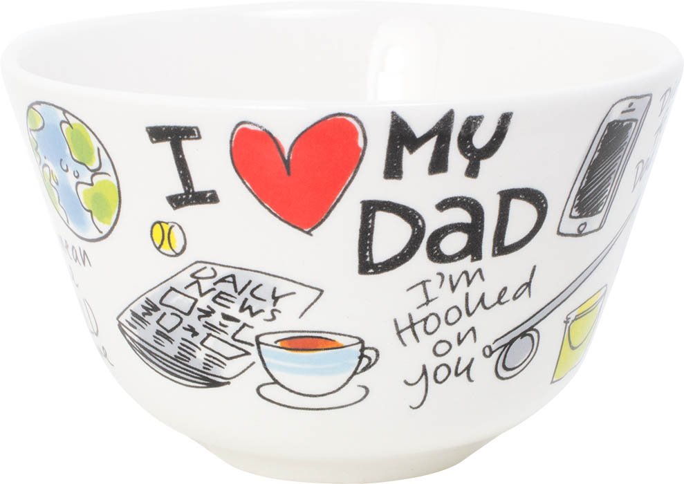 Blond Bowl 14 Cm I Love My Dad Sparkle Gift
