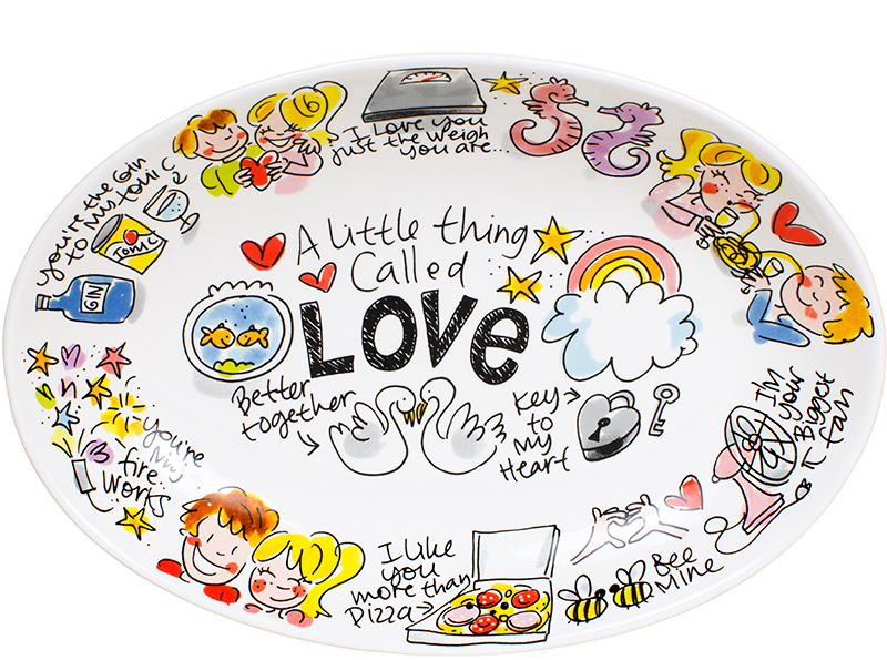 Blond Love Oval Bowl 28.5 Cm Sparkle Gift