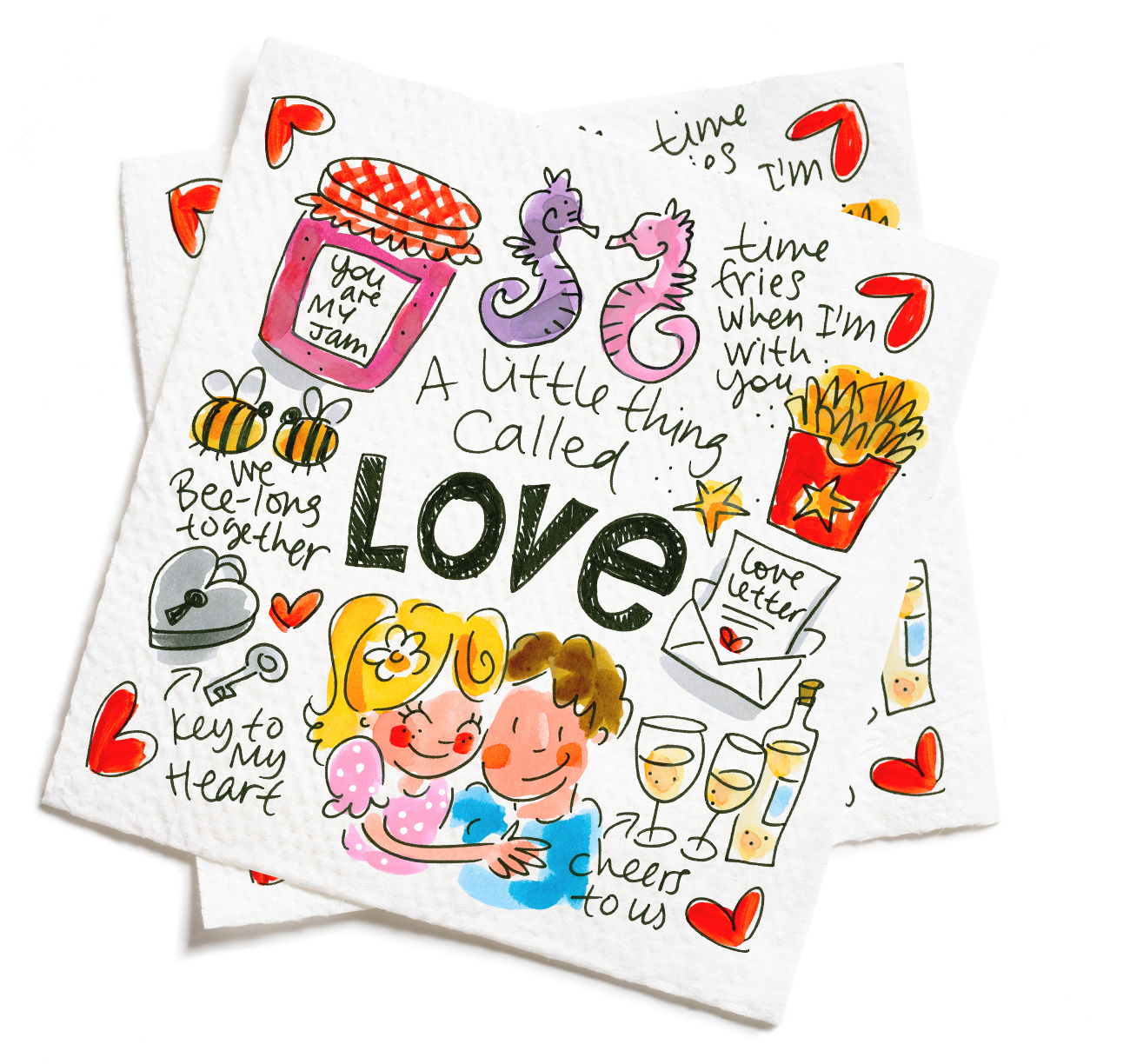 Blond Love Set 20 Napkins 33 X 33 Cm Sparkle Gift