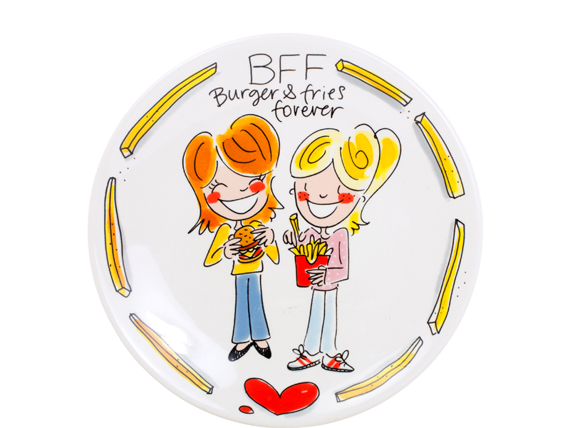 Blond Snack Plate 22 Cm Bff Sparkle Gift