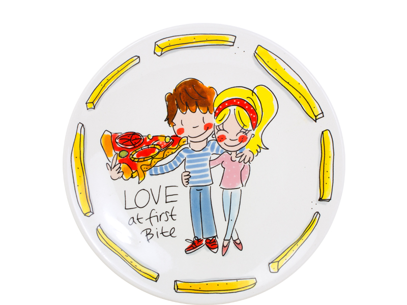 Blond Snack Plate 22 Cm Love Sparkle Gift