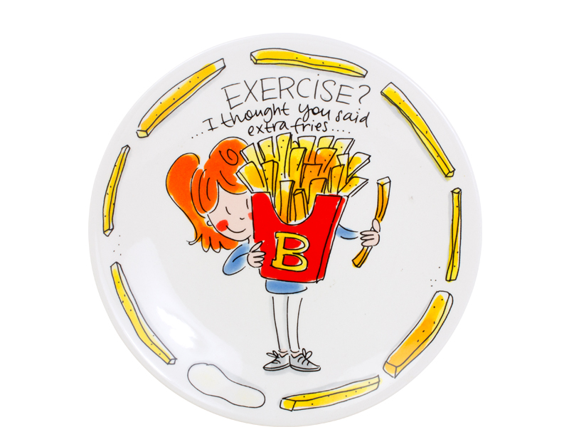 Blond Snack Plate 22 Cm Exercise Sparkle Gift
