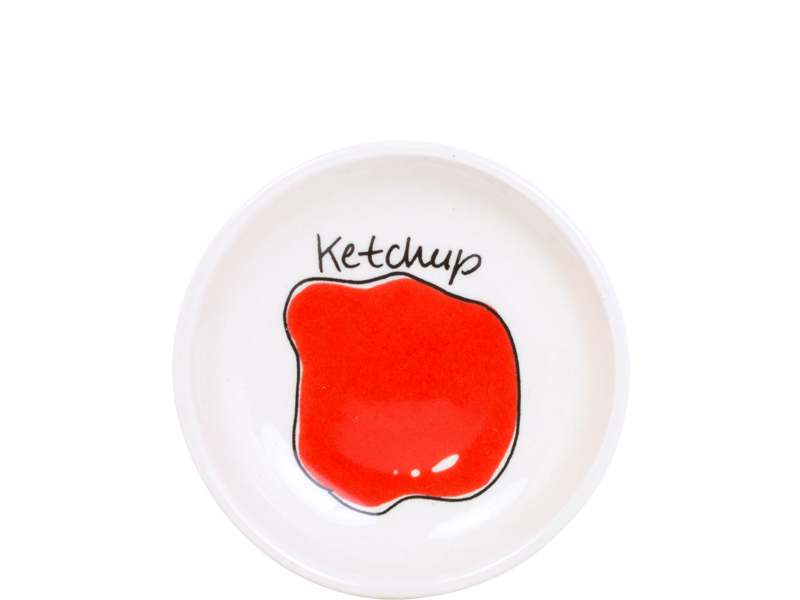 Blond Snack Sauce Dish 8 Cm Ketchup Sparkle Gift