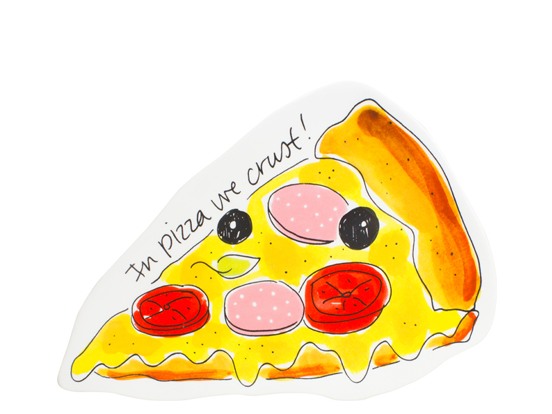 Blond Snack 3d Plate Pizza 14.5 X 22 Cm Sparkle Gift