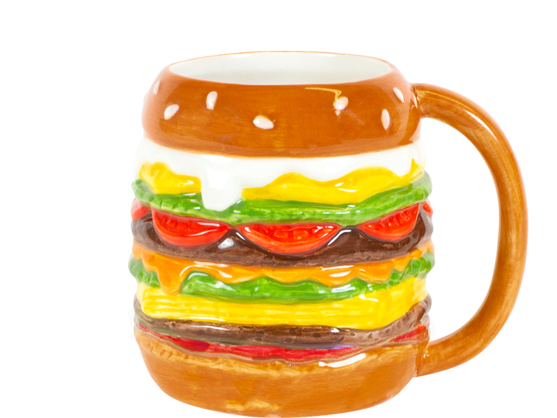 Blond Snack Hamburger 3d Mug Sparkle Gift