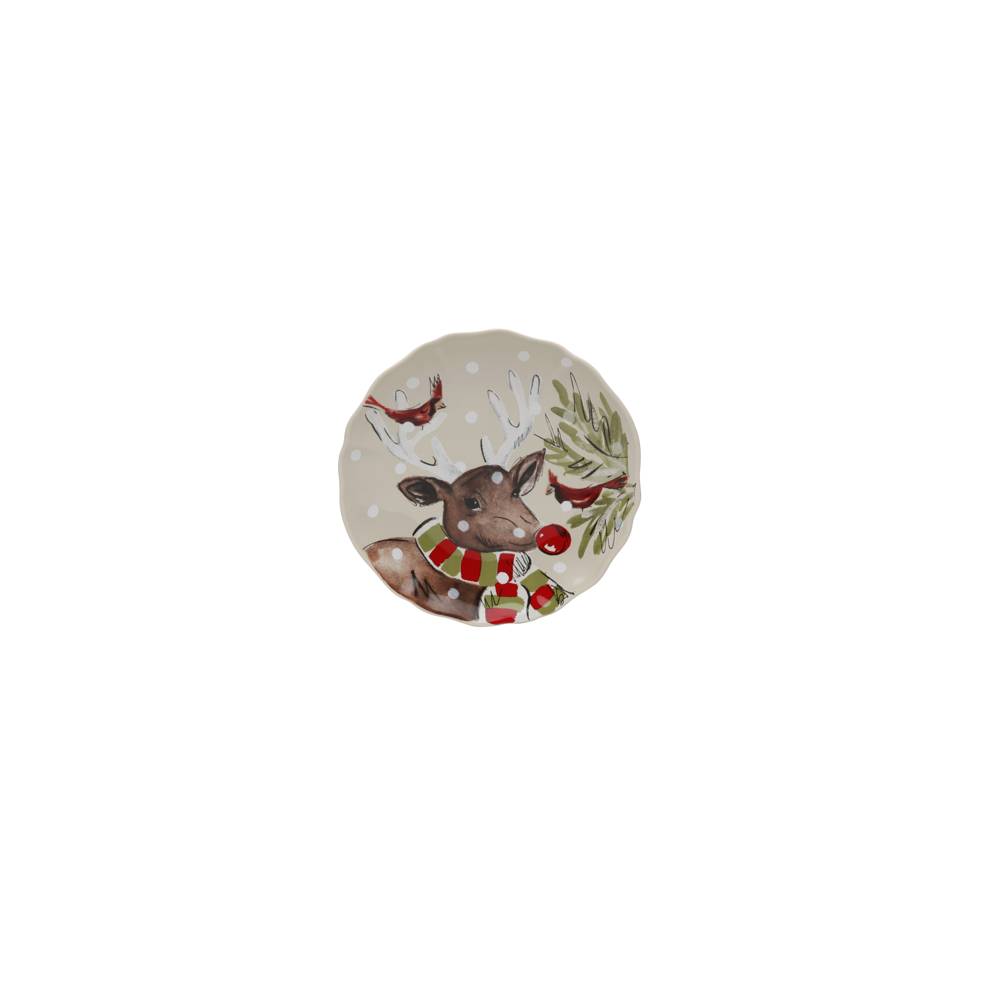 Deer Friends Linen Bread Plate 16.6cm X4 Sparkle Gift
