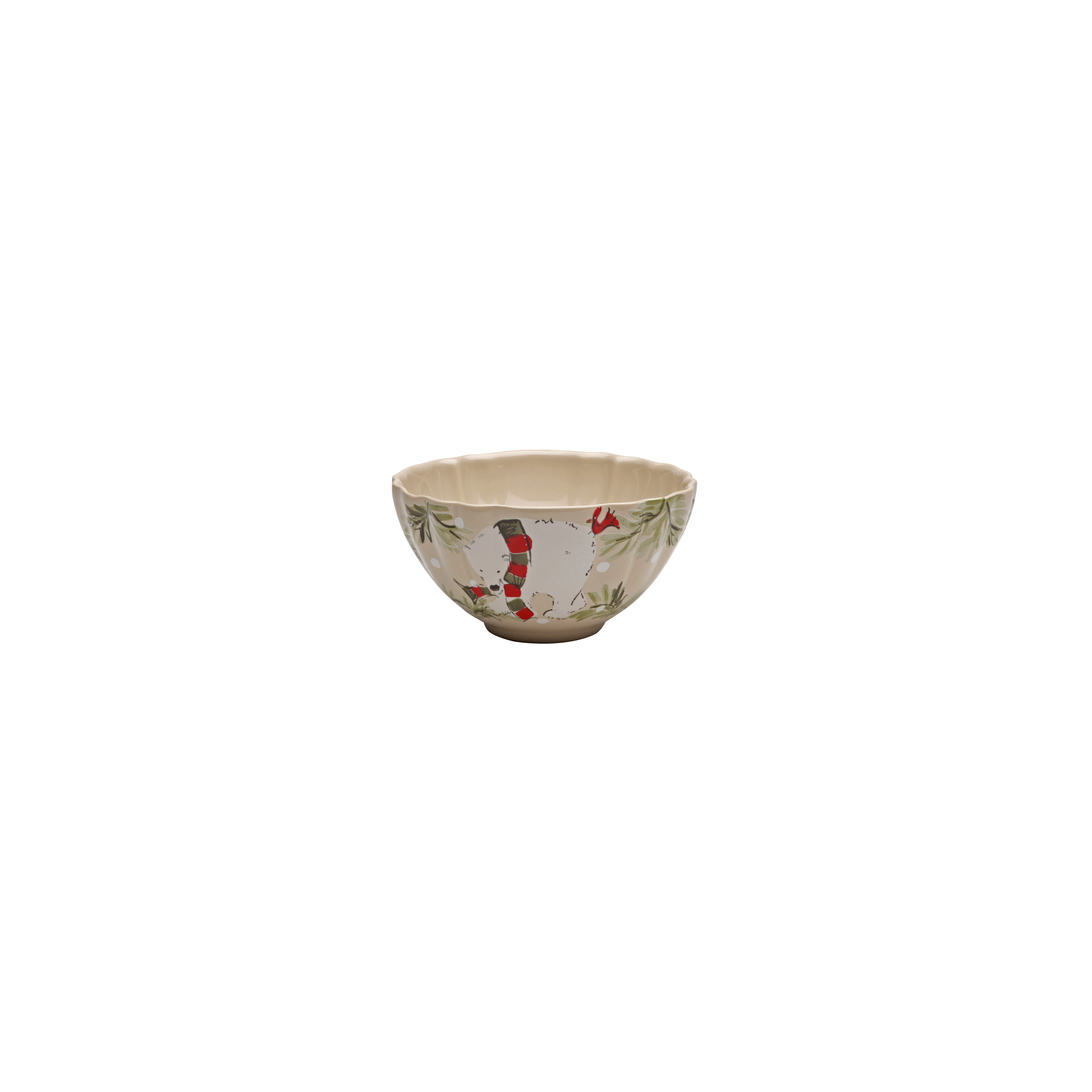 Deer Friends Linen Soup/cereal Bowl 16.2cm X4 Sparkle Gift