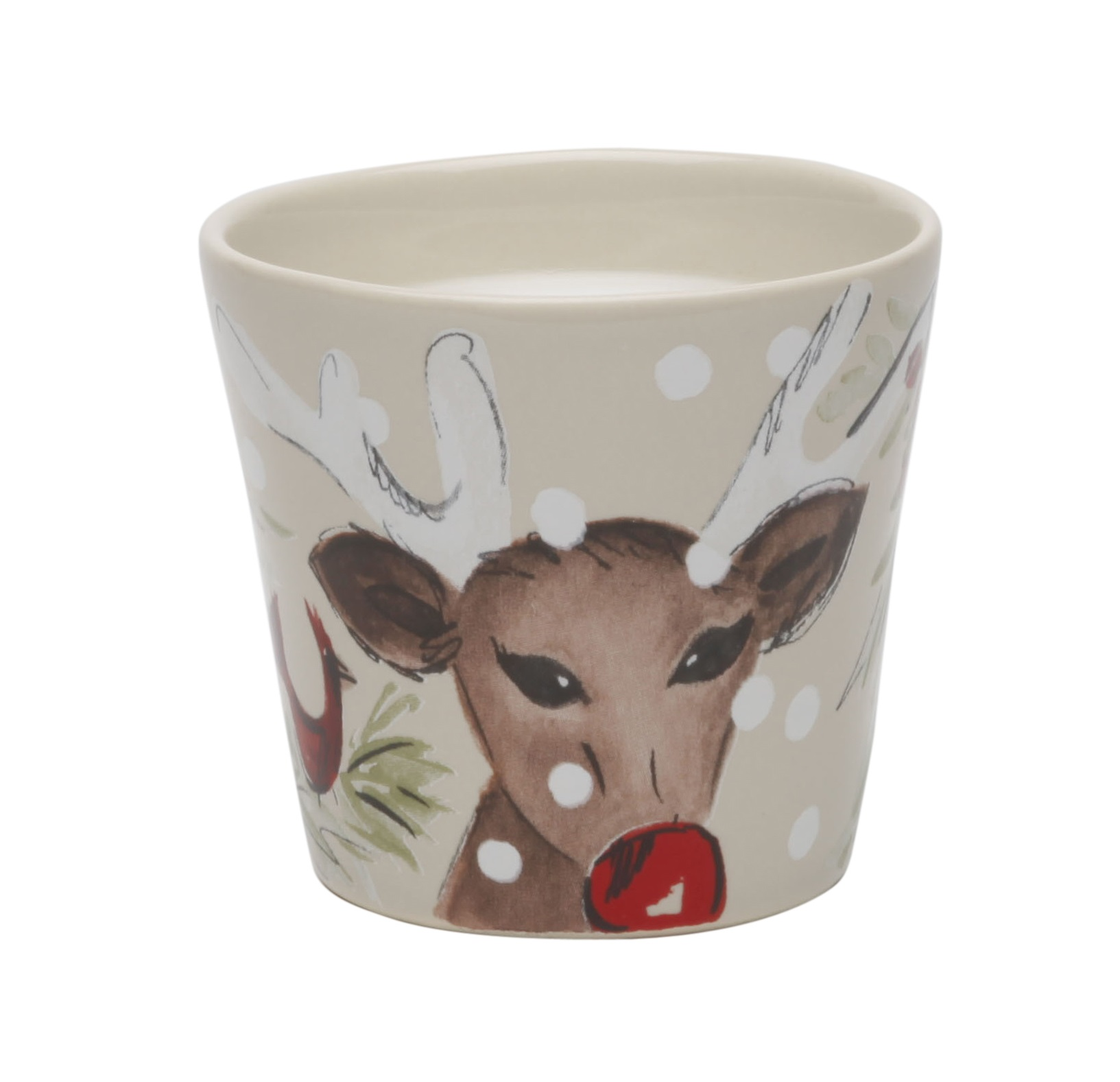 Deer Friends Linen Votive (35 Hours) 8cm X4 Sparkle Gift